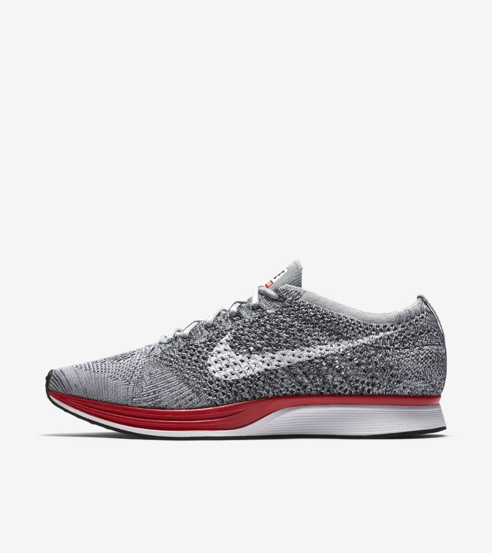 reputable site 99e46 223b5 Nike Flyknit Racer  Wolf Grey . Nike⁠+ SNKRS