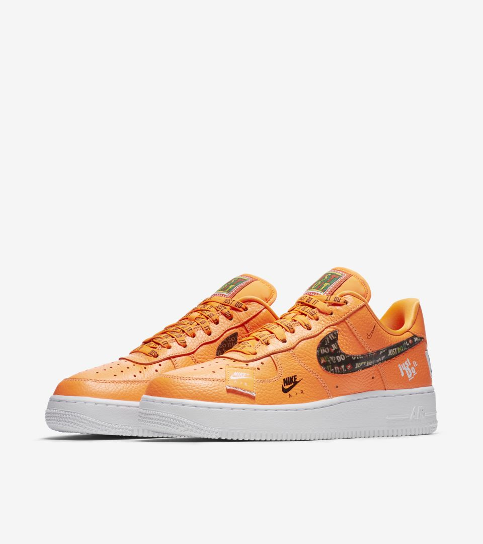 Nike Air Force 1 Premium Just Do It Collection 'Total Orange