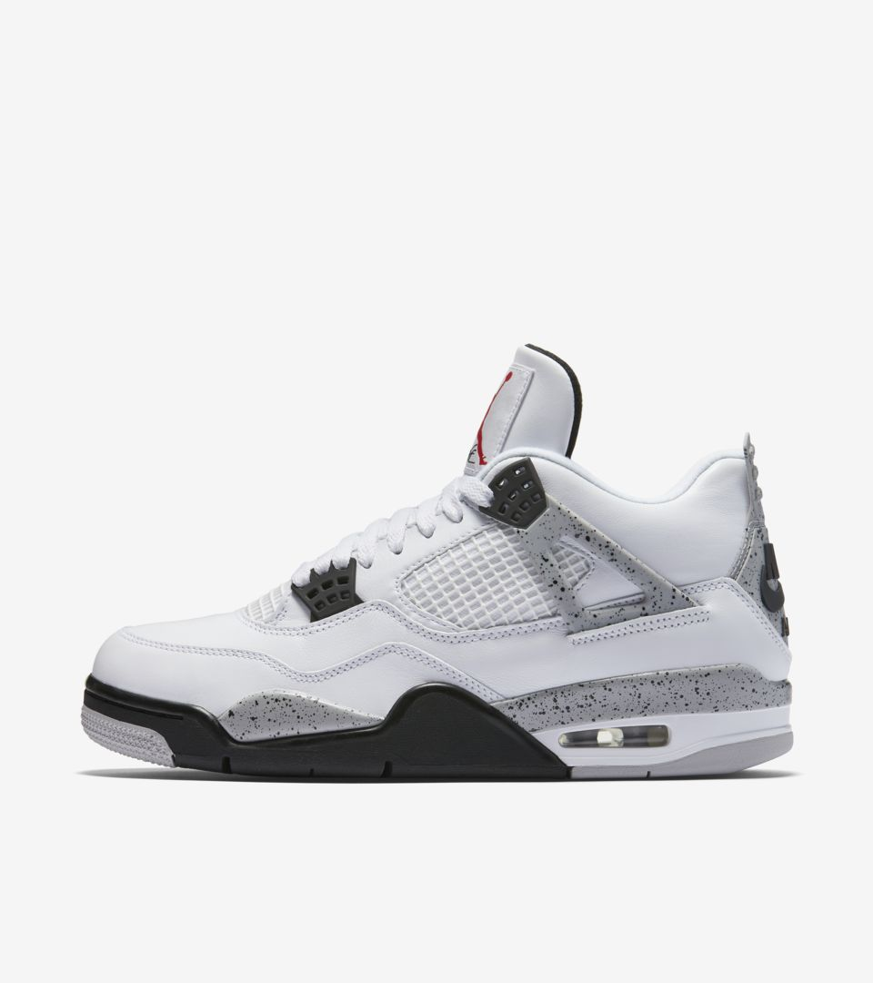 15b1b6fb1c55 Air Jordan 4 Retro  White Cement Grey  Release Date. Nike⁠+ SNKRS