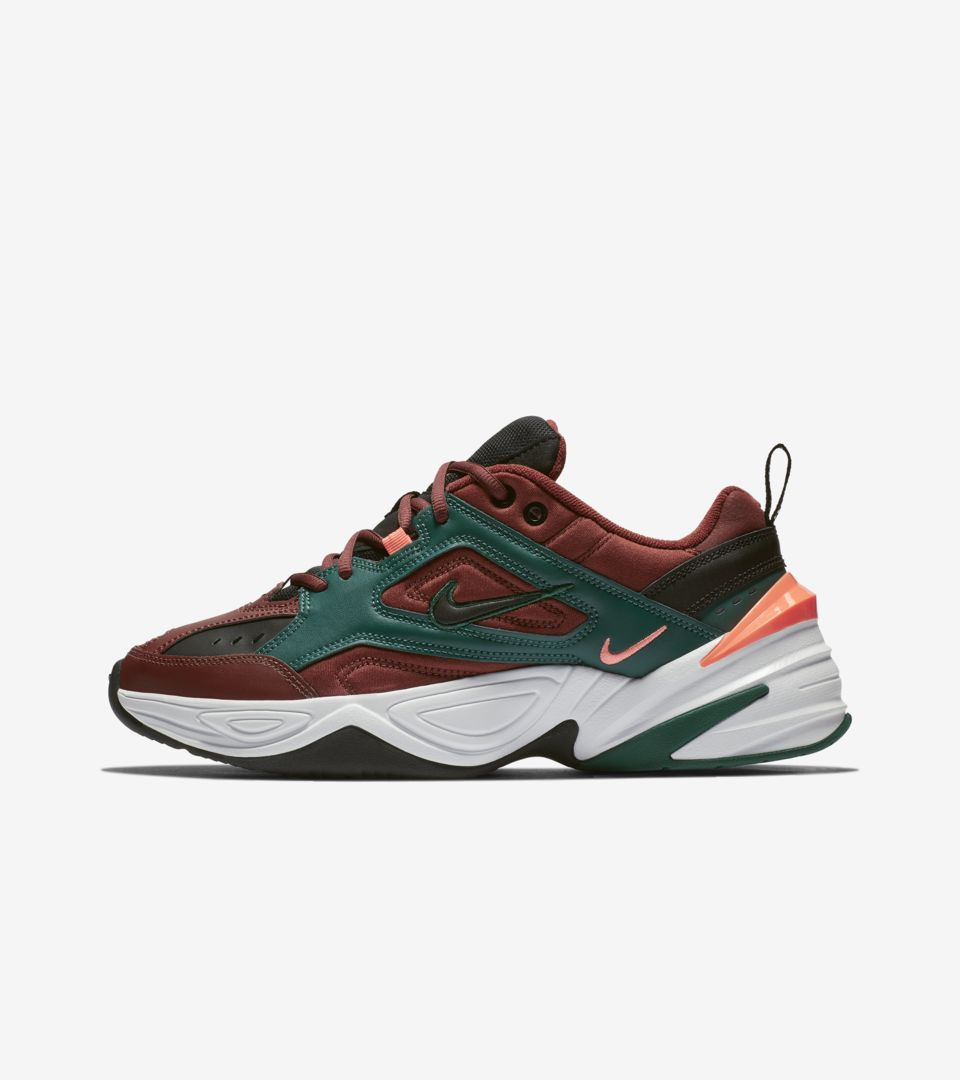 Nike M2K Tekno 'Pueblo Brown & Rain Forest & Bright Mango ...