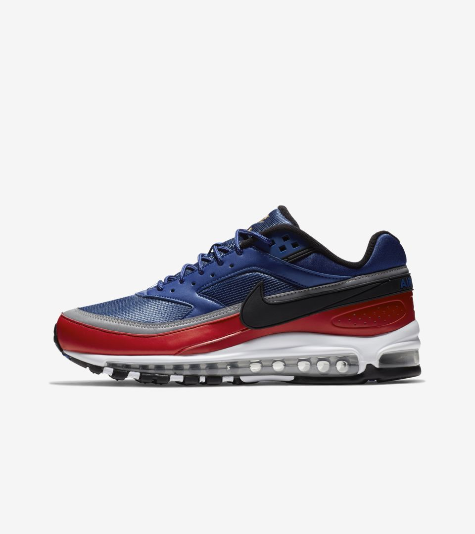 sports shoes 86d46 5faae Nike Air Max 97BW Deep Royal Blue  University Red  Metallic