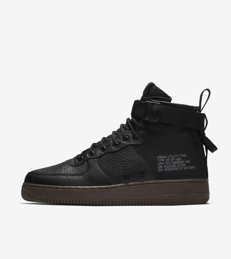 Nike SF AF-1 Mid 'Black \u0026 Dark Hazel