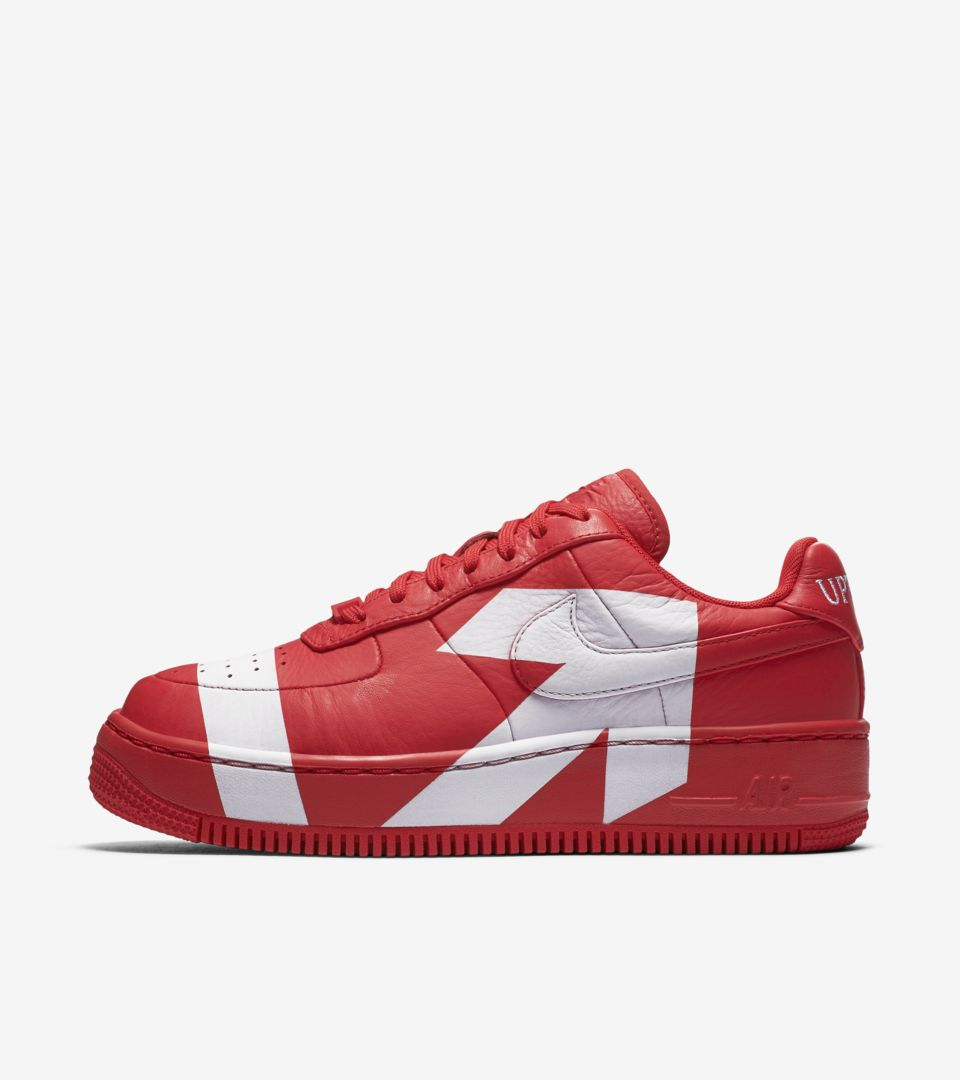 brand new 993bd 076df ... clearance womens nike air force 1 upstep university red white 7c7bc  2eab1