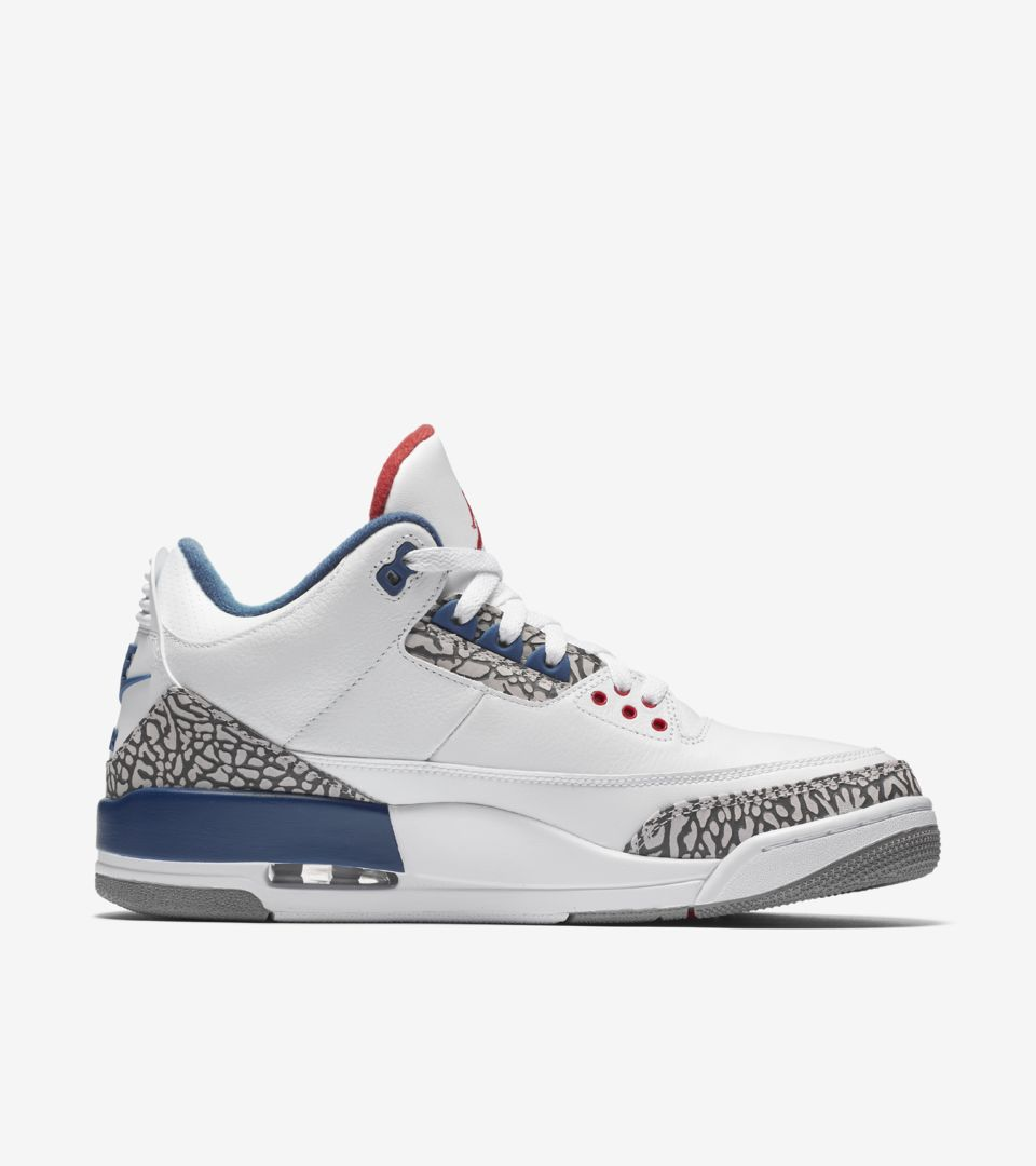 size 40 d7f06 1bf7b Air Jordan 3 Retro OG 'White & Cement Grey & Blue ...