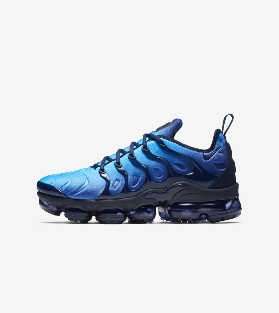 release info on huge discount sale Nike Air VaporMax Plus 'Obsidian & Photo Blue' Release ...