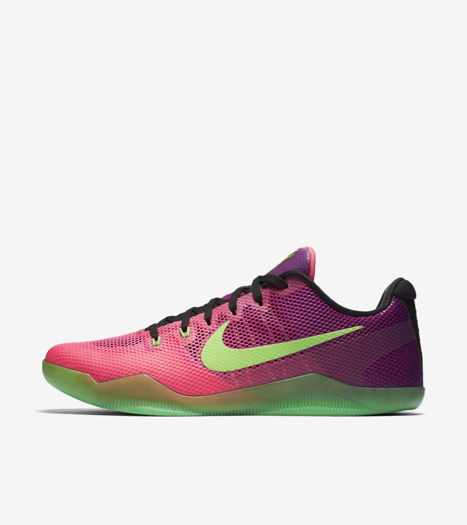 0237fc36a8b Nike Kobe 11 Mambacurial  Pink Flash   Action Green  Release Date. Nike⁠+  SNKRS
