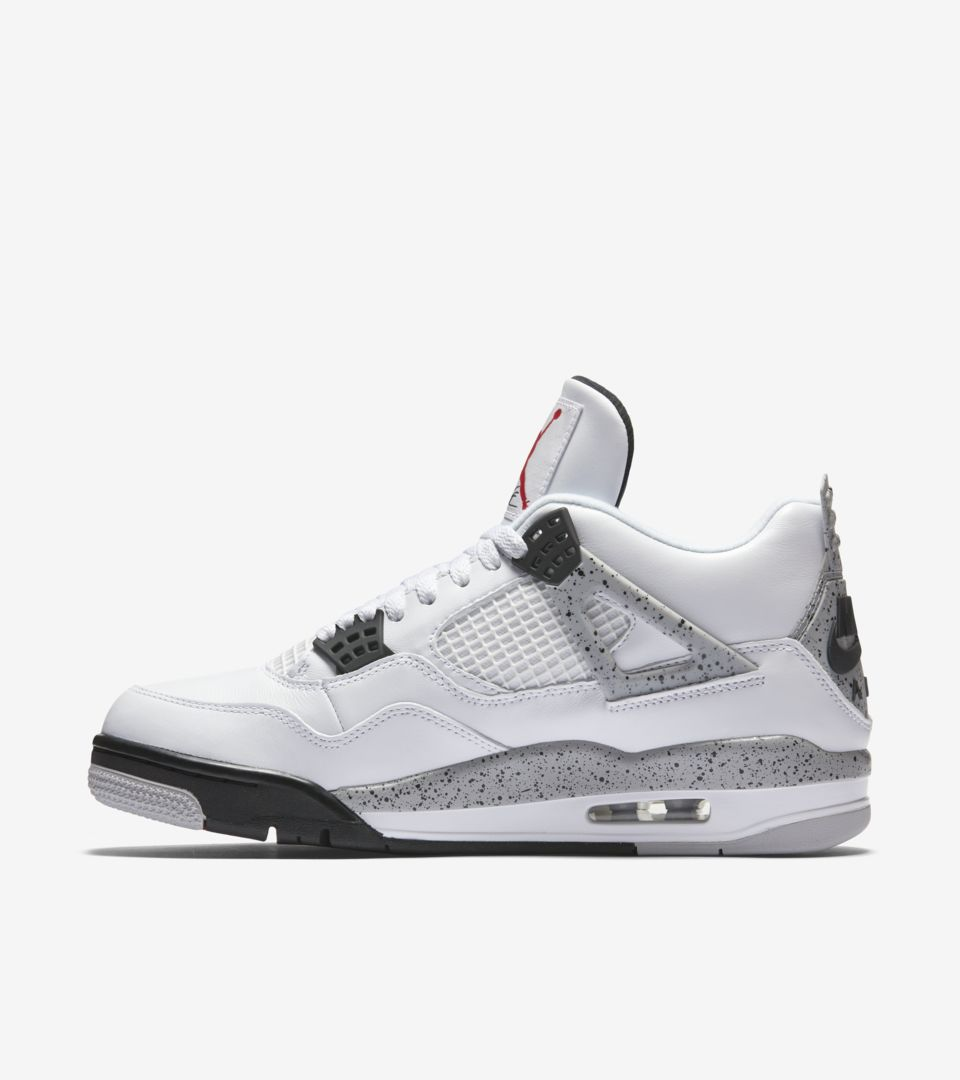 new style bfaad 8850e Air Jordan 4 Retro 'White Cement Grey' Release Date. Nike⁠+ ...