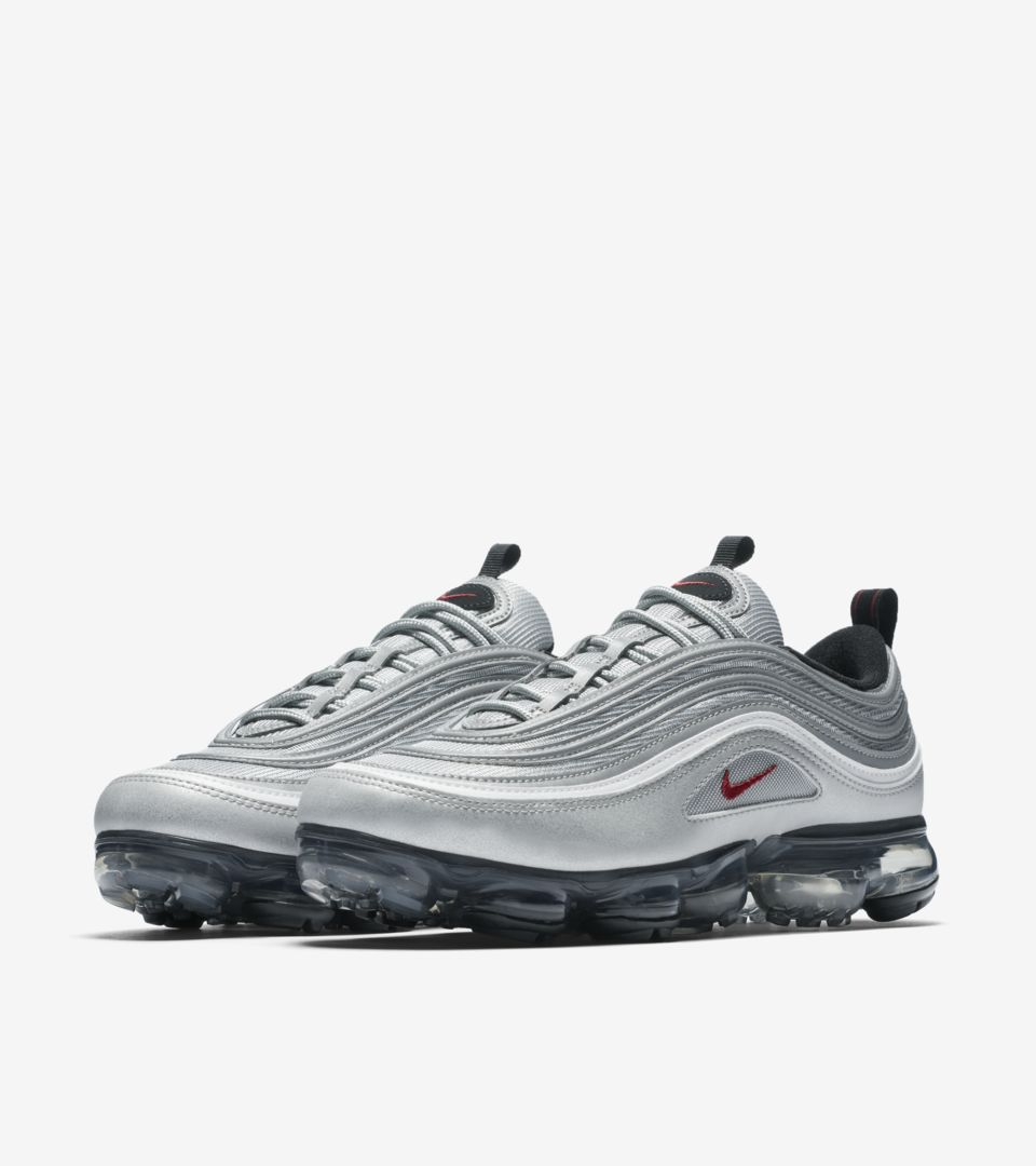2716899f8e2c Nike Air Vapormax 97  Metallic Silver   Varsity Red  Release Date ...