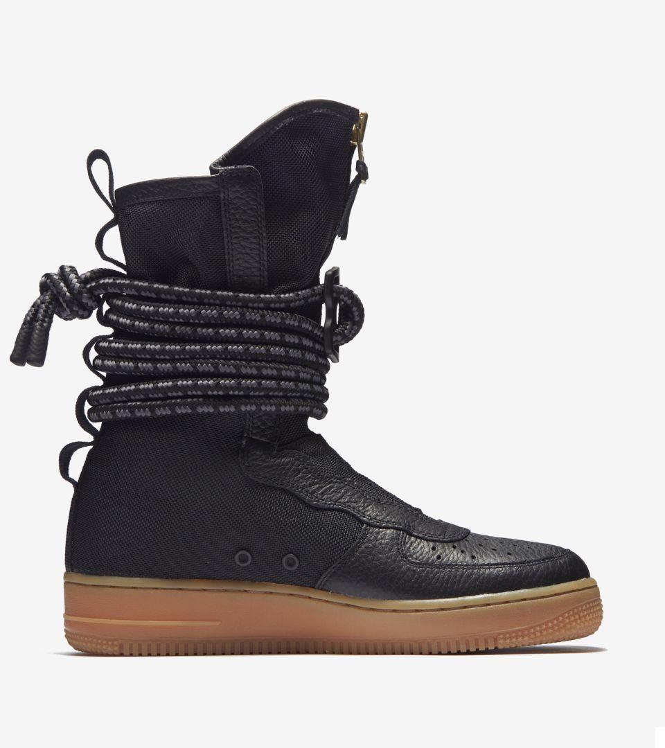 separation shoes 302f7 d920b Nike Women's SF Air Force 1 Hi 'Black & Gum Medium Brown ...