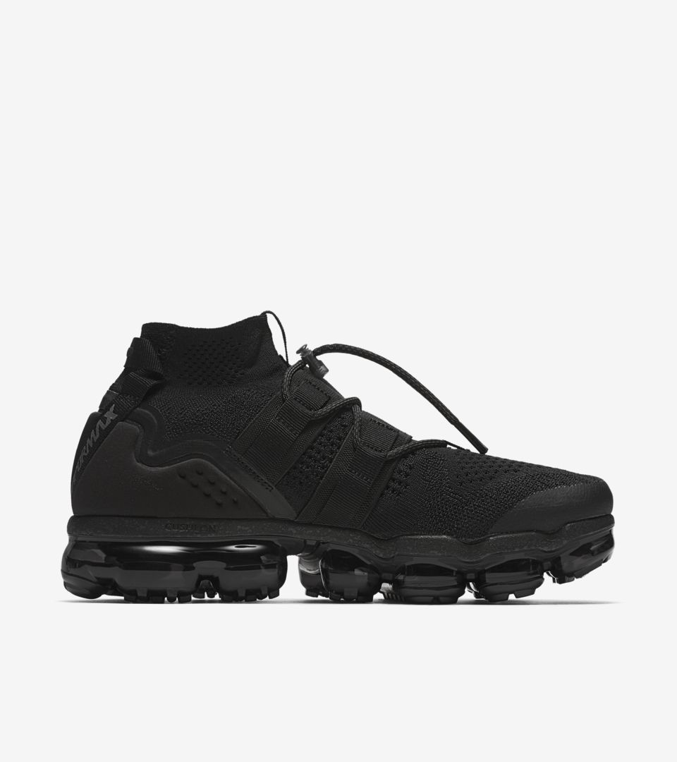 57b9c9d9ffbfb Nike Air Vapormax Flyknit Utility 'Black' Release Date. Nike⁠+ SNKRS
