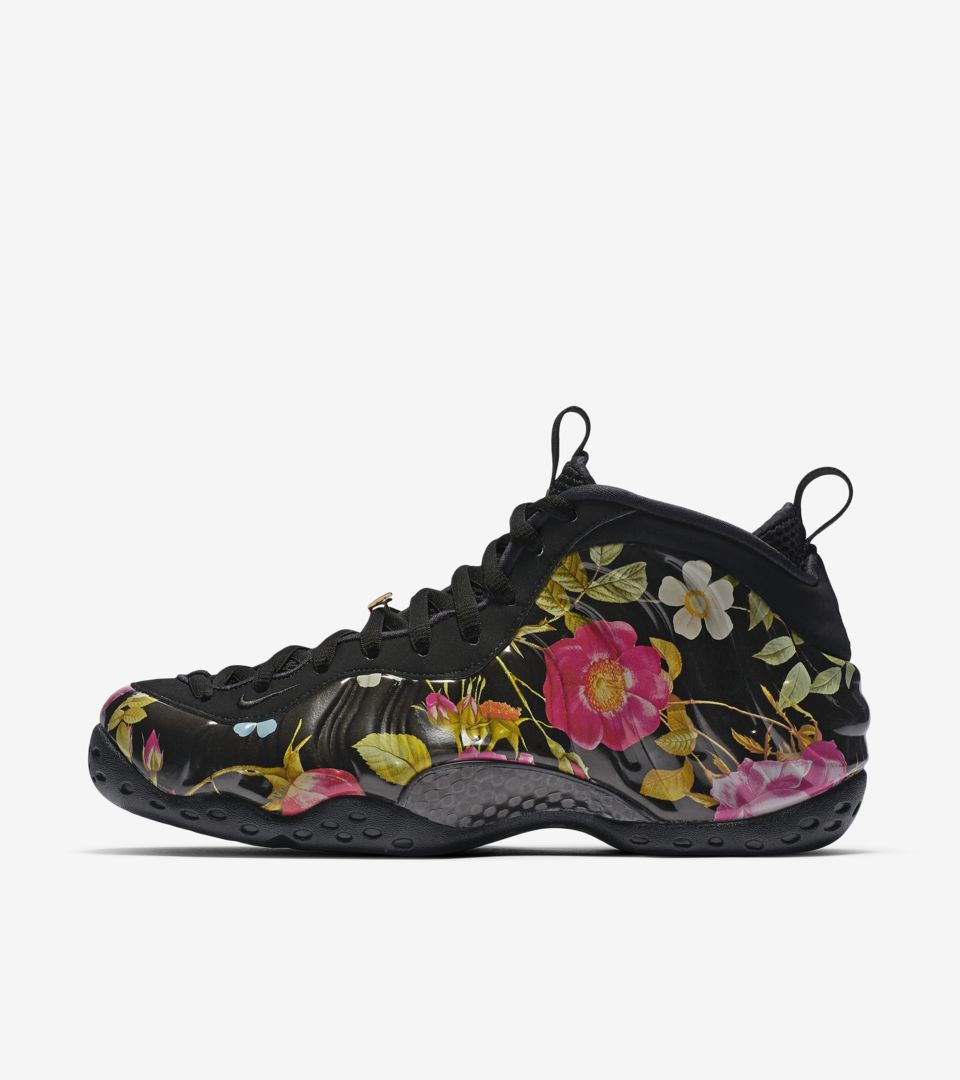 7e9946cfb8659 Nike Air Foamposite One Floral  Black  Release Date. Nike⁠+ SNKRS