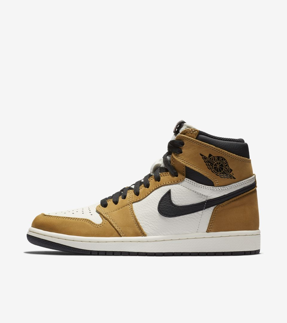 info for 97cf2 9c131 ... Air Jordan 1 High  Golden Harvest   Sail   Black  ...