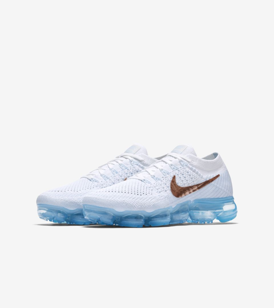 hot sale online 1e2a8 e5911 Women's Nike Air VaporMax Flyknit 'Summit White & Hydrogen ...