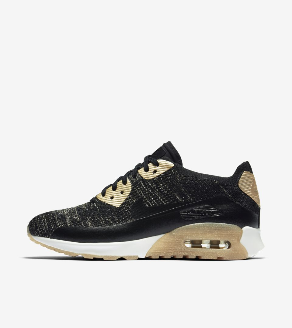 Women's Nike Air Max 90 Ultra 2.0 Flyknit Metallic 'Black