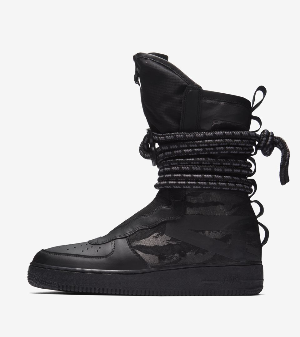 nike air force one high black