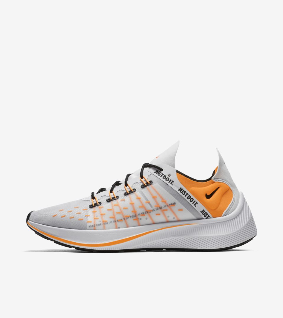 7dba4ebe660ce Nike EXP-X14 SE Just Do It Collection  White   Black   Wolf Grey   Total  Orange  Release Date. Nike⁠+ SNKRS