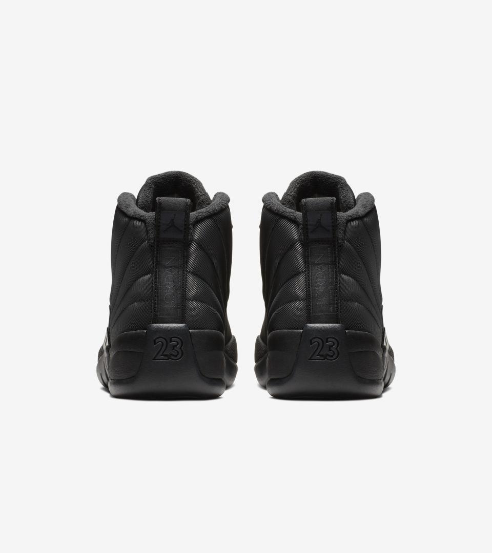 a7b23a3e61c2a2 Air Jordan 12 Retro Winter  Black   Anthracite  Release Date. Nike+ ...
