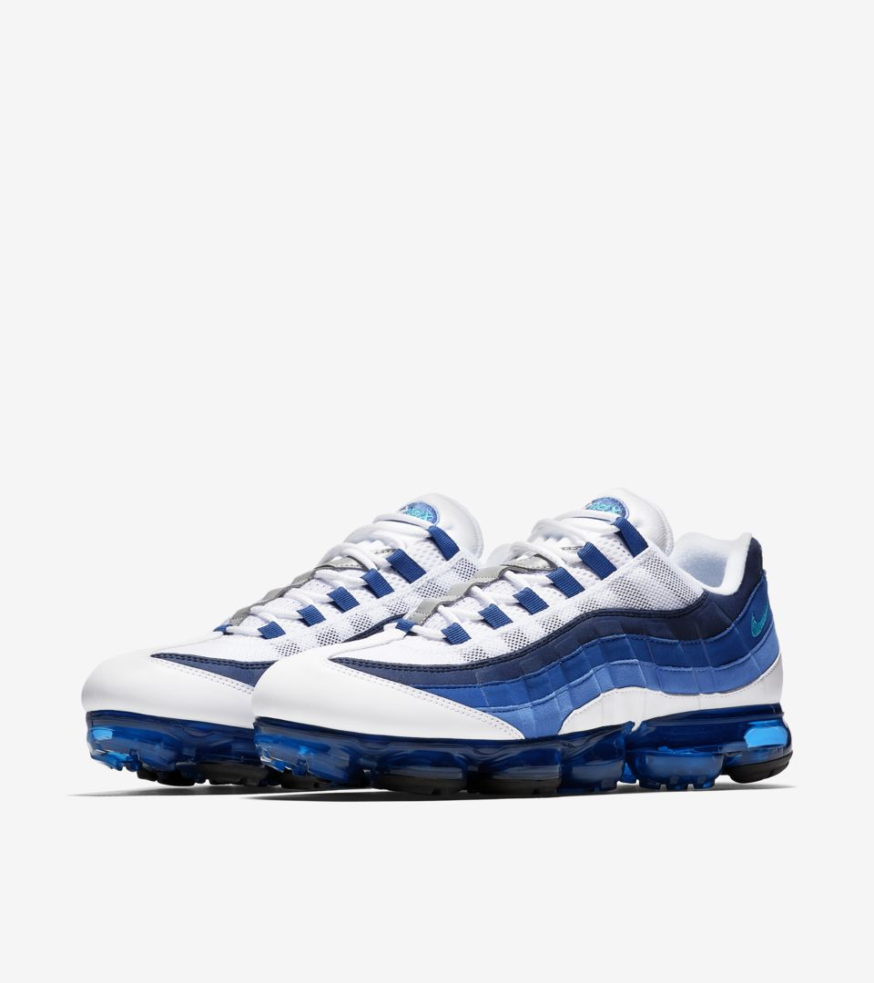 Nike Air Vapormax 95 'White & French Blue' Release Date
