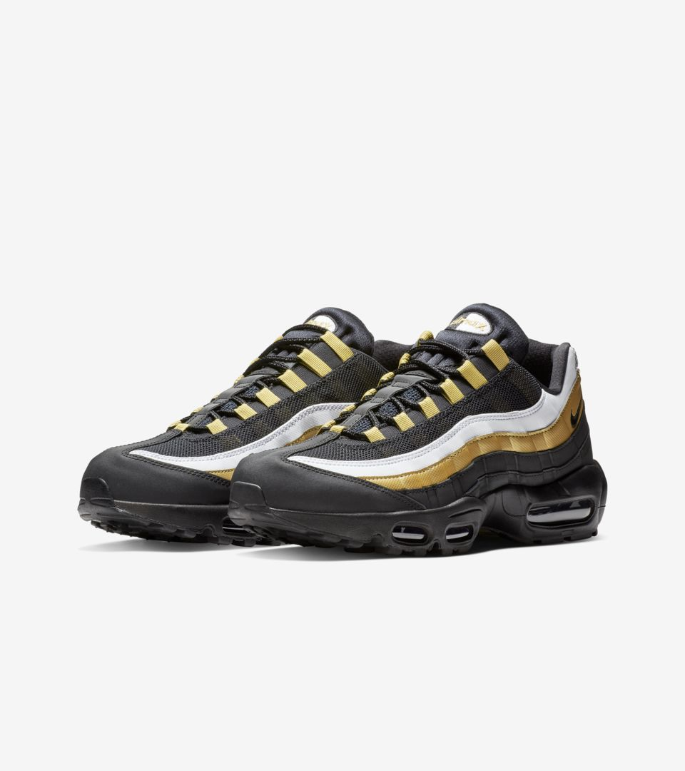 ec80aec9a0 Air Max 95 OG 'Black & Metallic Gold & White' Release Date. Nike⁠+ SNKRS