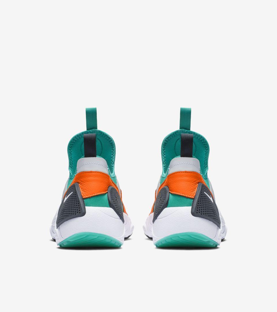Nike Huarache E.D.G.E. TXT QS 'White & Clear Emerald & Total Orange' Release Date