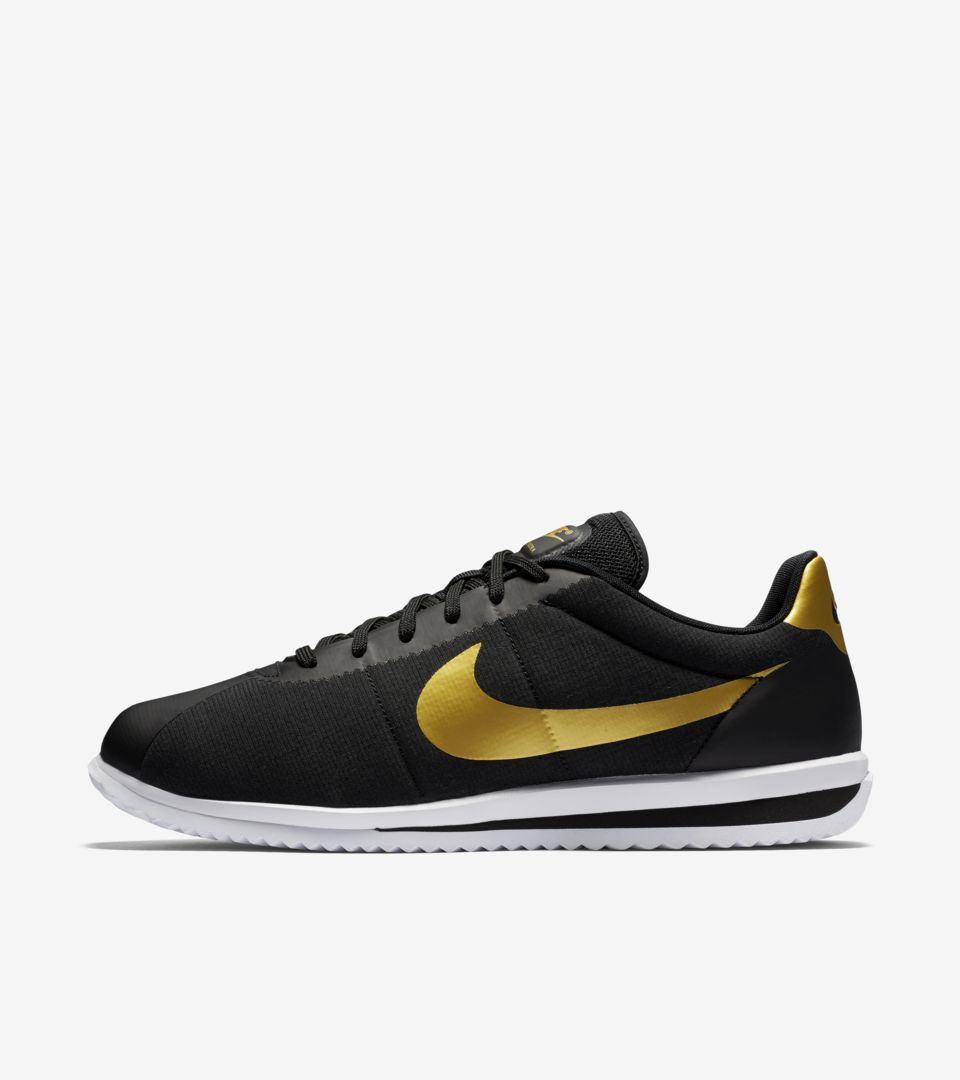 new style 328d6 8d726 Nike Cortez Ultra 'Black & Metallic Gold'. Nike+ SNKRS