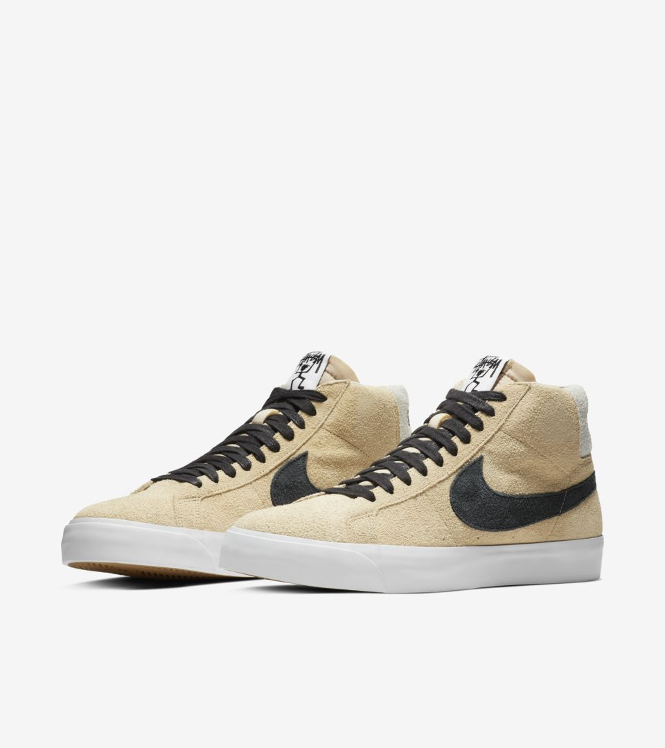 Nike SB Zoom Blazer Mid Stussy x Lance 'Midwest Gold & Black' Release Date