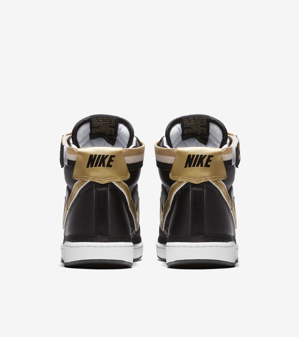 Nike Vandal High Supreme 'Black & Metallic Gold' Release Date