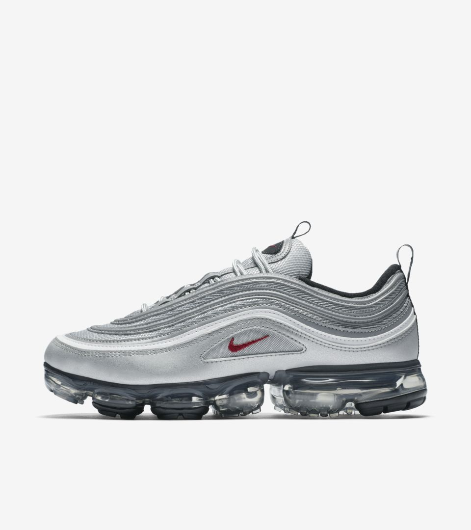 outlet store f4d9e 08634 Nike Air Vapormax 97 'Metallic Silver & Varsity Red' Release ...
