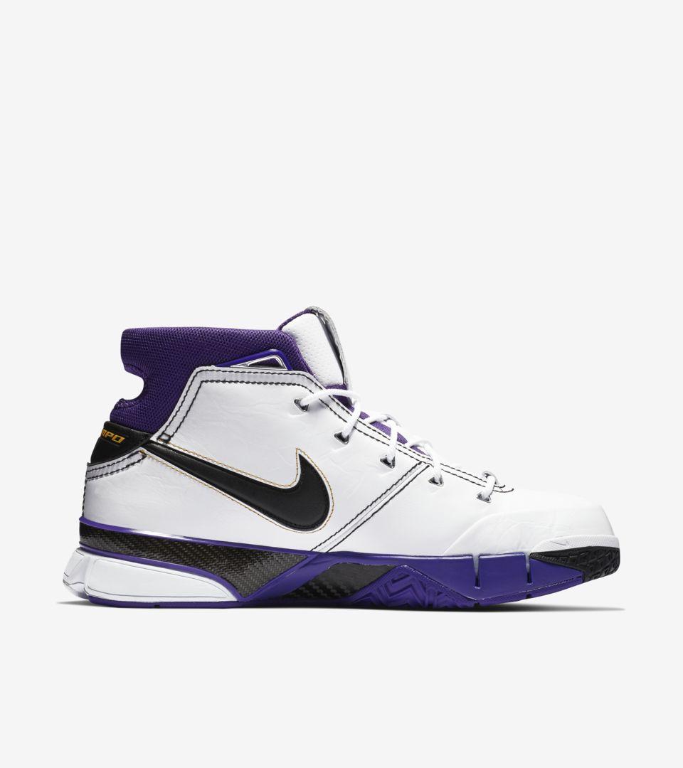 Nike Zoom Kobe 1 Protro 'White & Varsity Purple & Black' Release Date