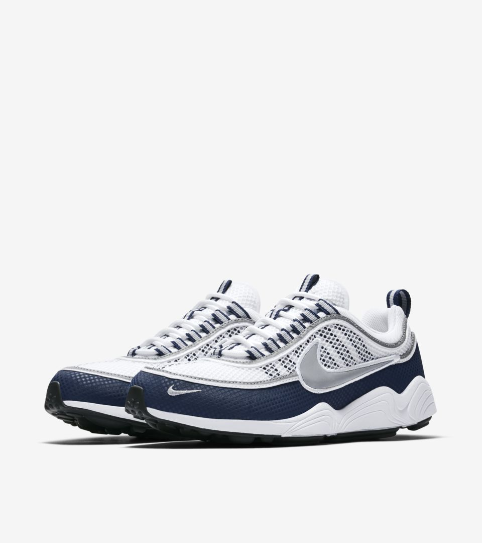 new product factory price outlet store Nike Air Zoom Spiridon 'White & Light Midnight'. Nike SNKRS