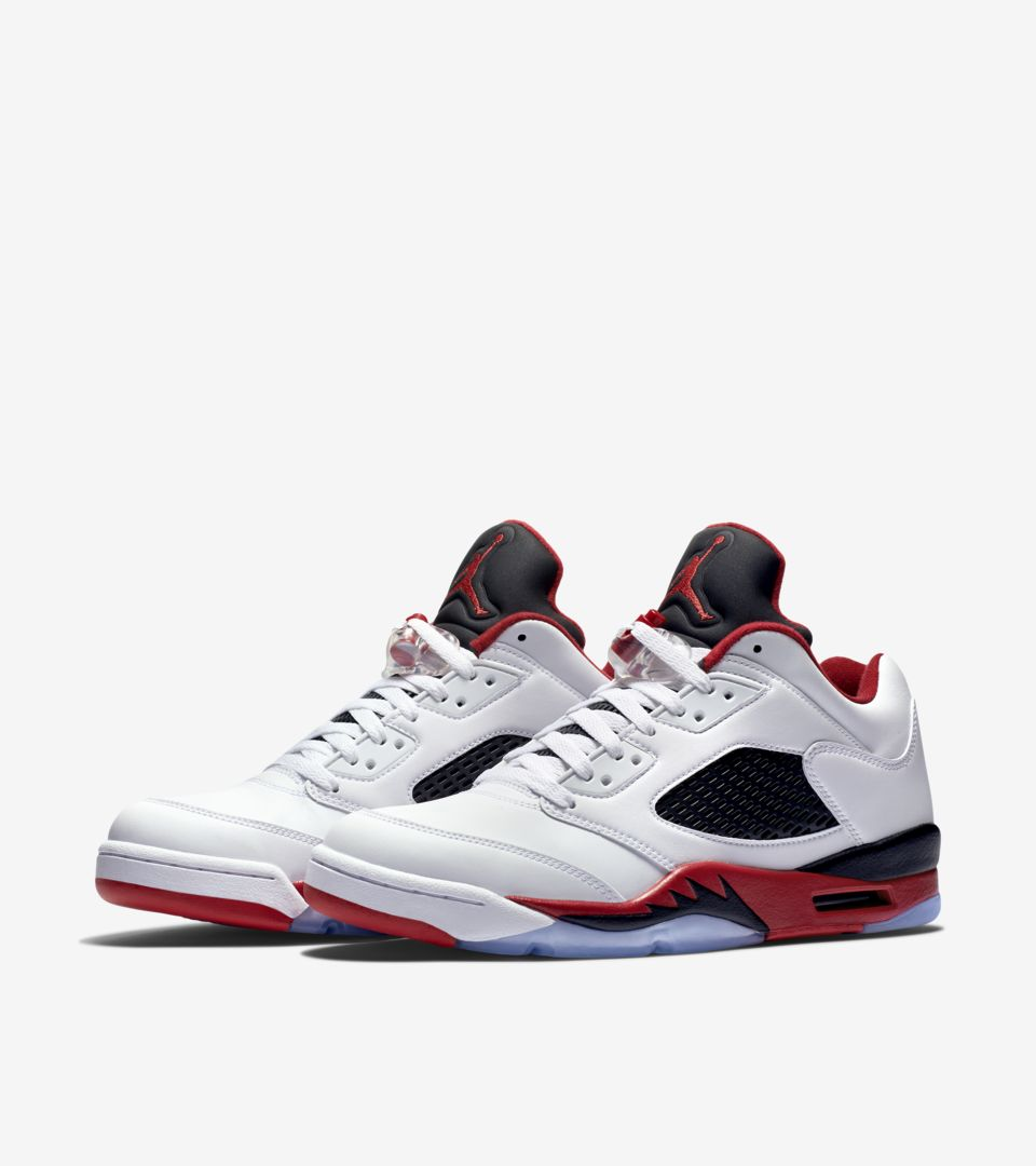 Air Jordan 5 Retro Low  Fire Red  Release Date. Nike⁠+ SNKRS a73578c07a
