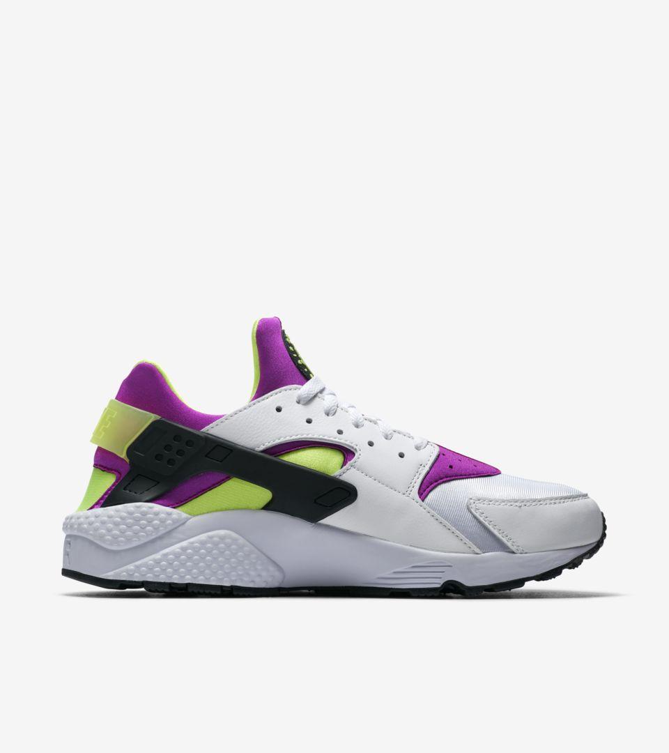 31c8936e97f6a Nike Air Huarache Run   White   Neon Yellow   Magenta  Release Date ...