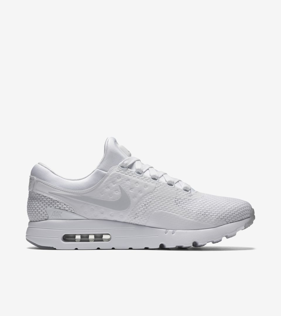 innovative design 716cf af0d8 Nike Air Max Zero 'Triple White' Release Date. Nike⁠+ SNKRS
