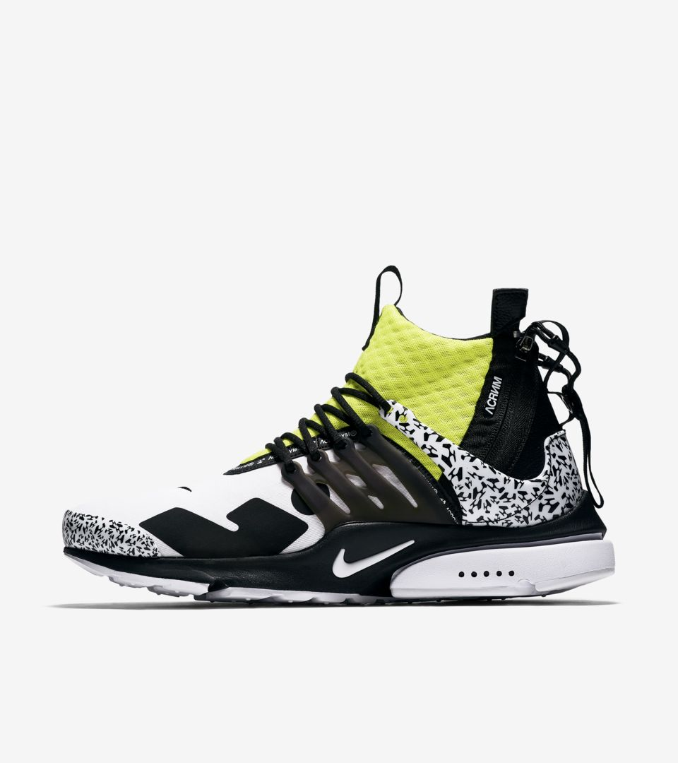 685668c74ab Air Presto Mid Utility X Acronym  White   Black   Dynamic Yellow ...