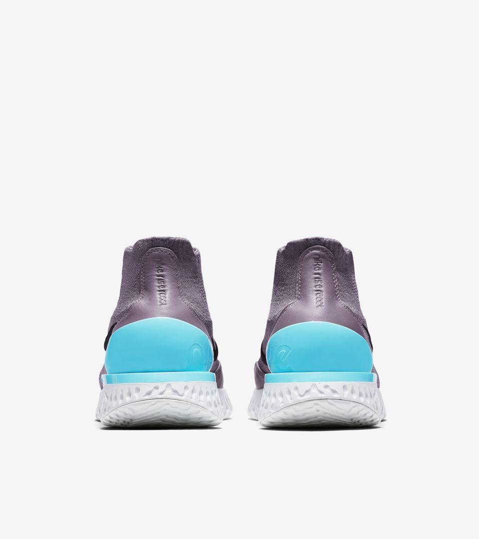 Nike Rise React Flyknit 'Gunsmoke & Aurora & Black' Release Date
