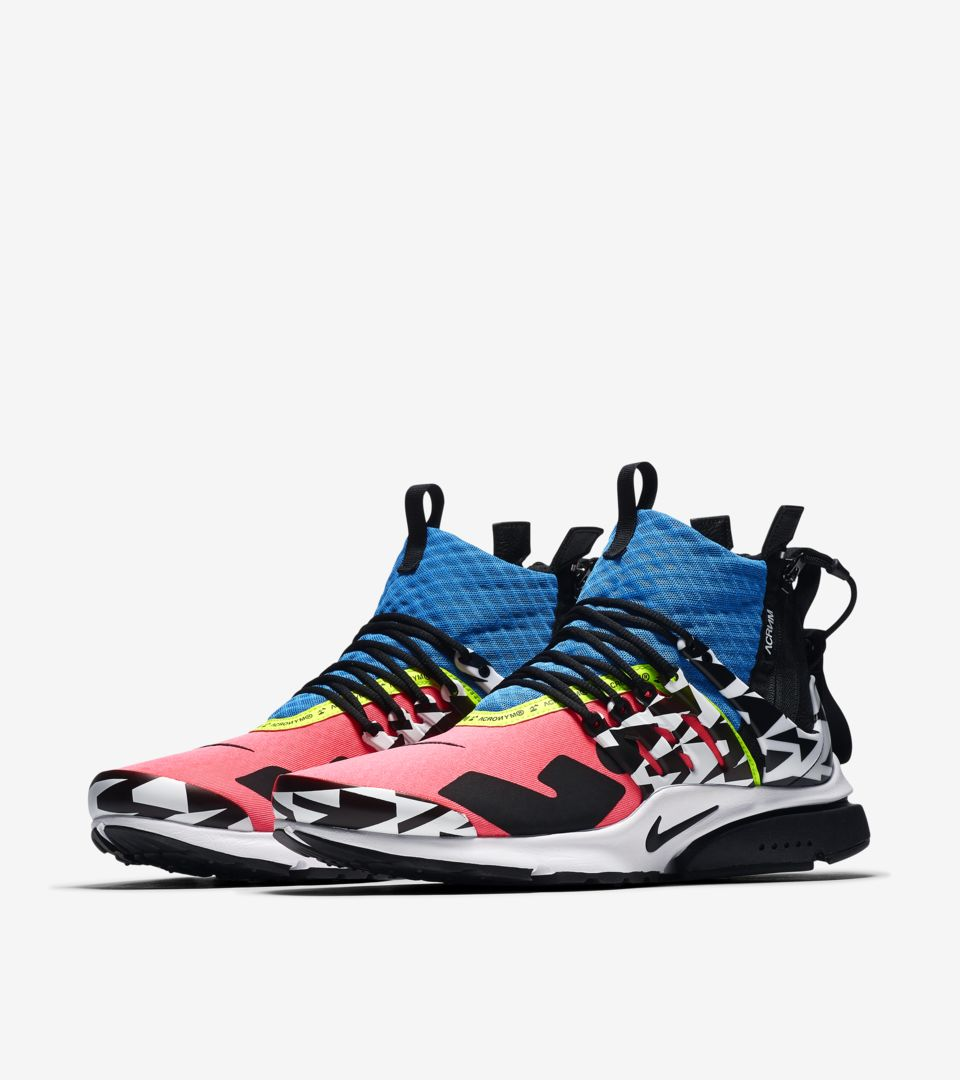 c3a49d51d649 Air Presto Mid Utility X Acronym  Racer Pink   Black   Photo Blue ...