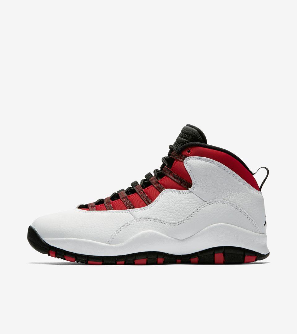 new styles ece96 5ca57 Air Jordan 10 'White & Varsity Red' Release Date. Nike+ SNKRS