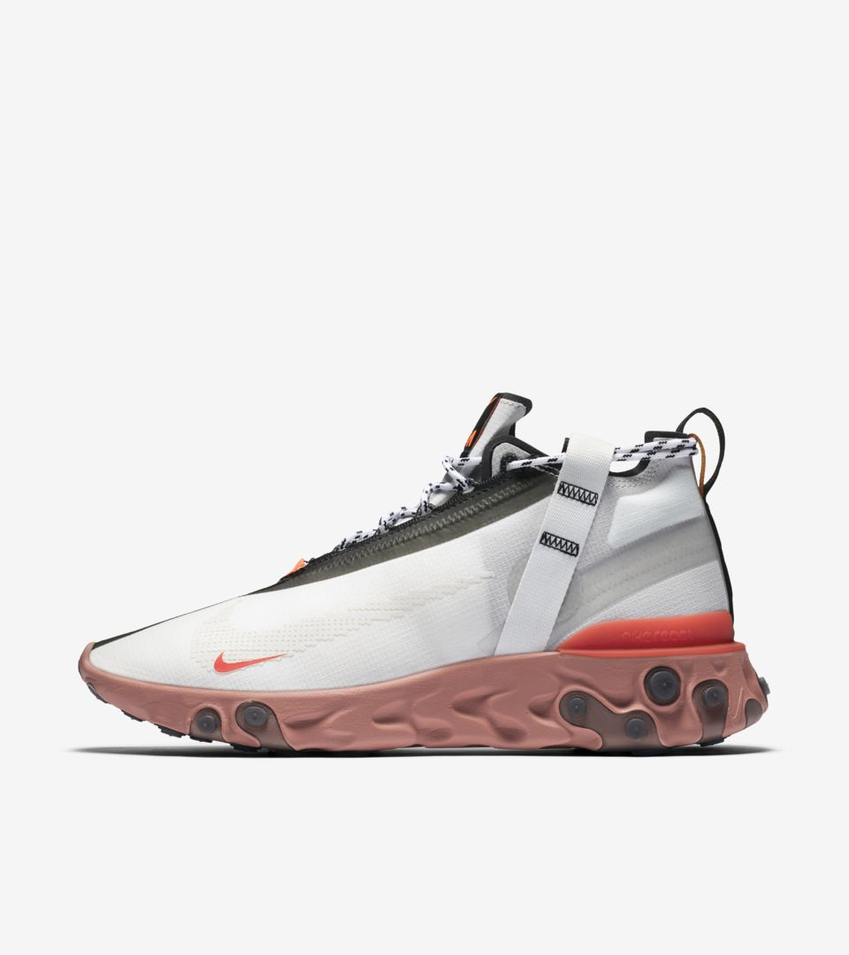 a45295988ef82a ... Nike React Mid iSPA  Summit White   Light Crimson   Off White  ...