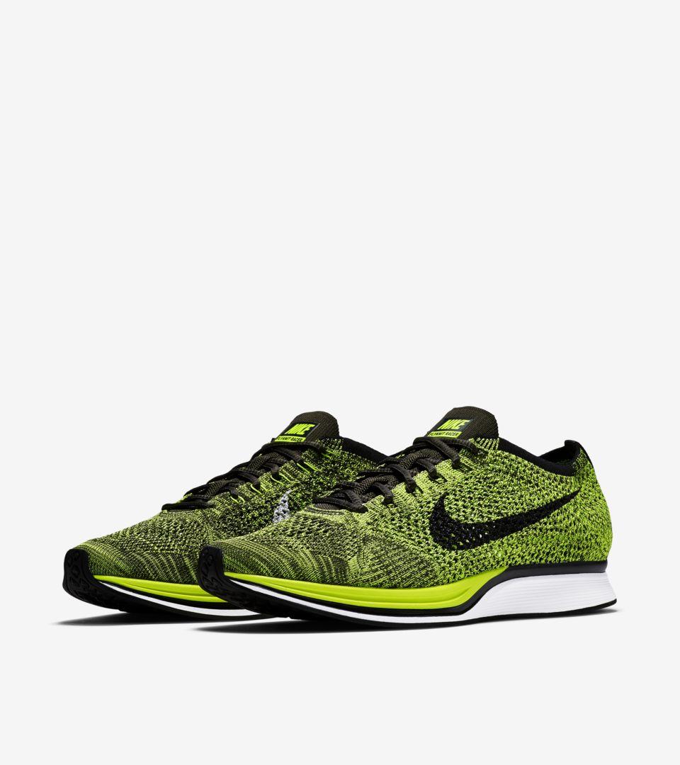 ba3d94f42085 Nike Flyknit Racer  Volt  Release Date. Nike+ SNKRS