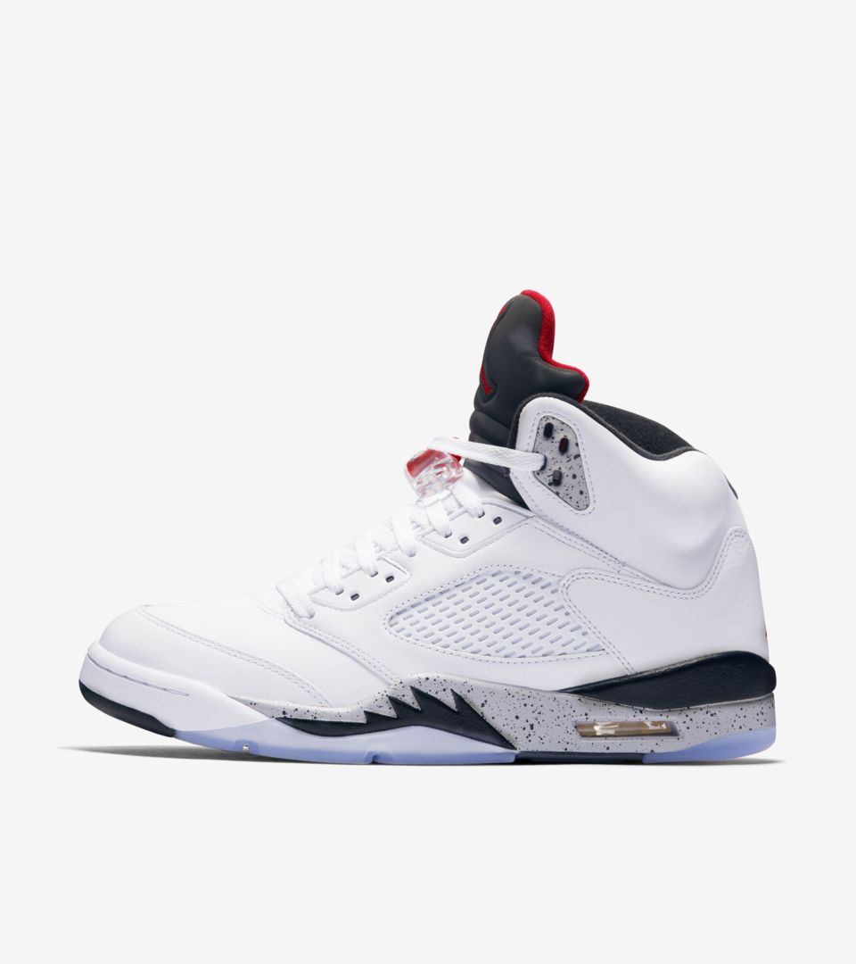 67c9085a7475cf Air Jordan 5 Retro  White   Black   University Red  Release Date ...