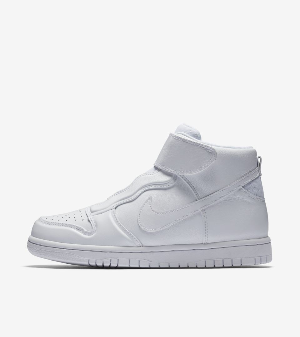 Women s Dunk High Ease  White on White . Nike⁠+ SNKRS 0c933daba