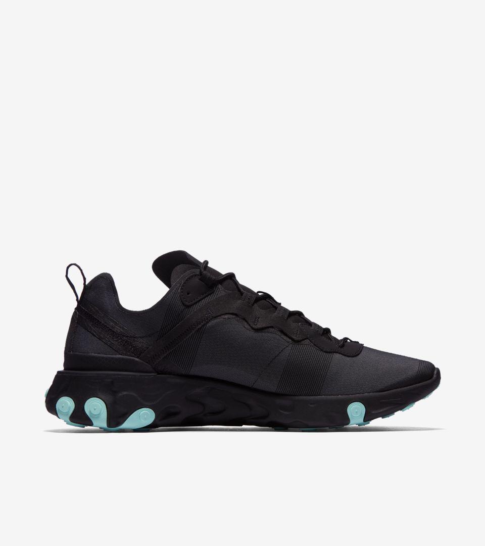 Nike React Element 55 'Black & Aurora' Release Date