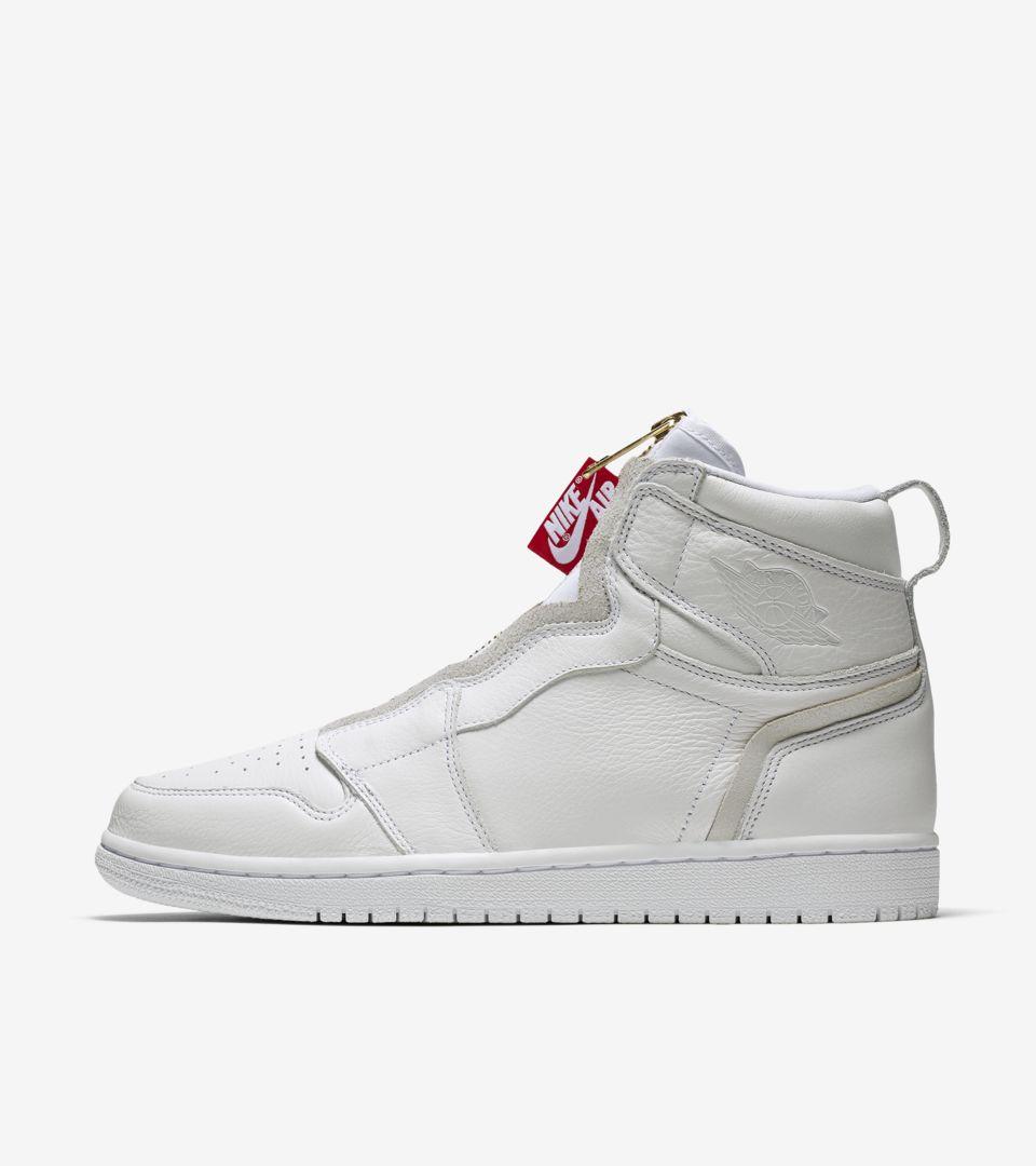 Mm cocinero Oblea  Women's Air Jordan 1 High Zip 'White & University Red' Release Date. Nike  SNKRS