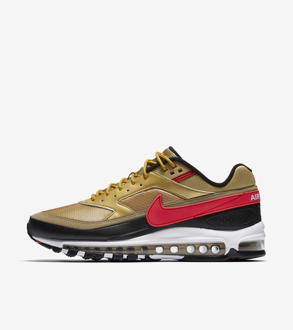 Nike AIR MAX 97BW Metallic GoldUniversity Red