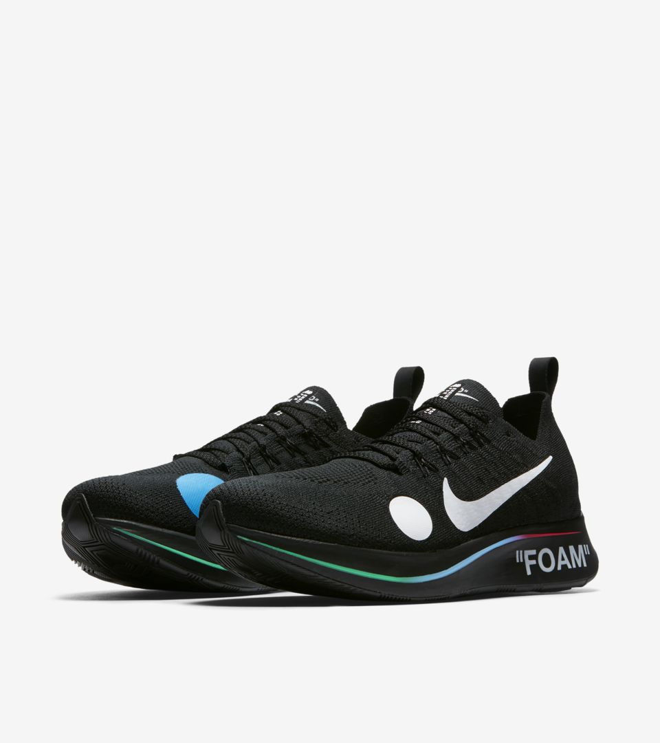 c9ca0ec2a730 Nike Zoom Fly Mercurial Flyknit Off-White  Black  amp  White ...