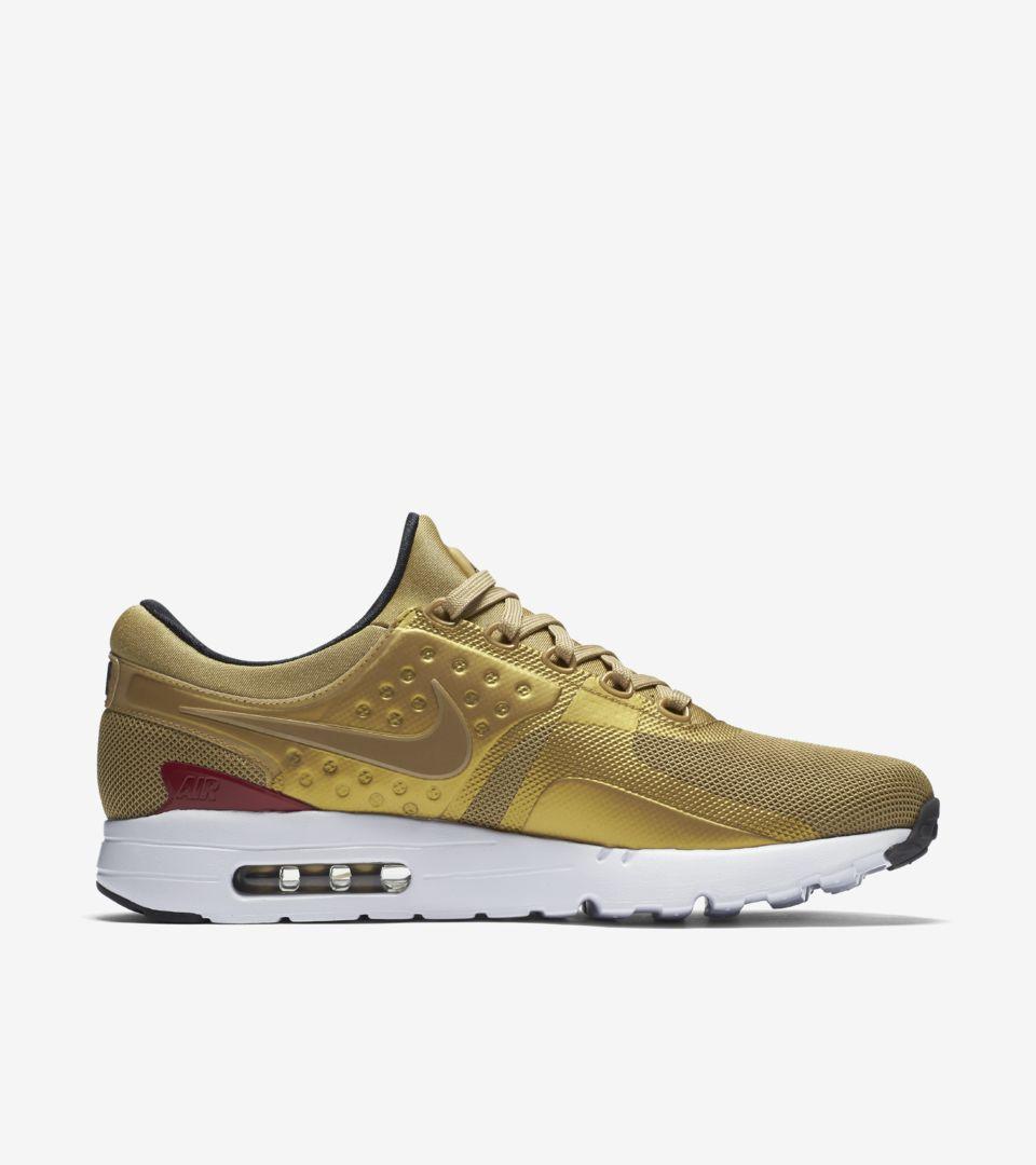 reputable site bf426 10744 Nike Air Max Zero  Metallic Gold  Release Date. Nike+ SNKRS