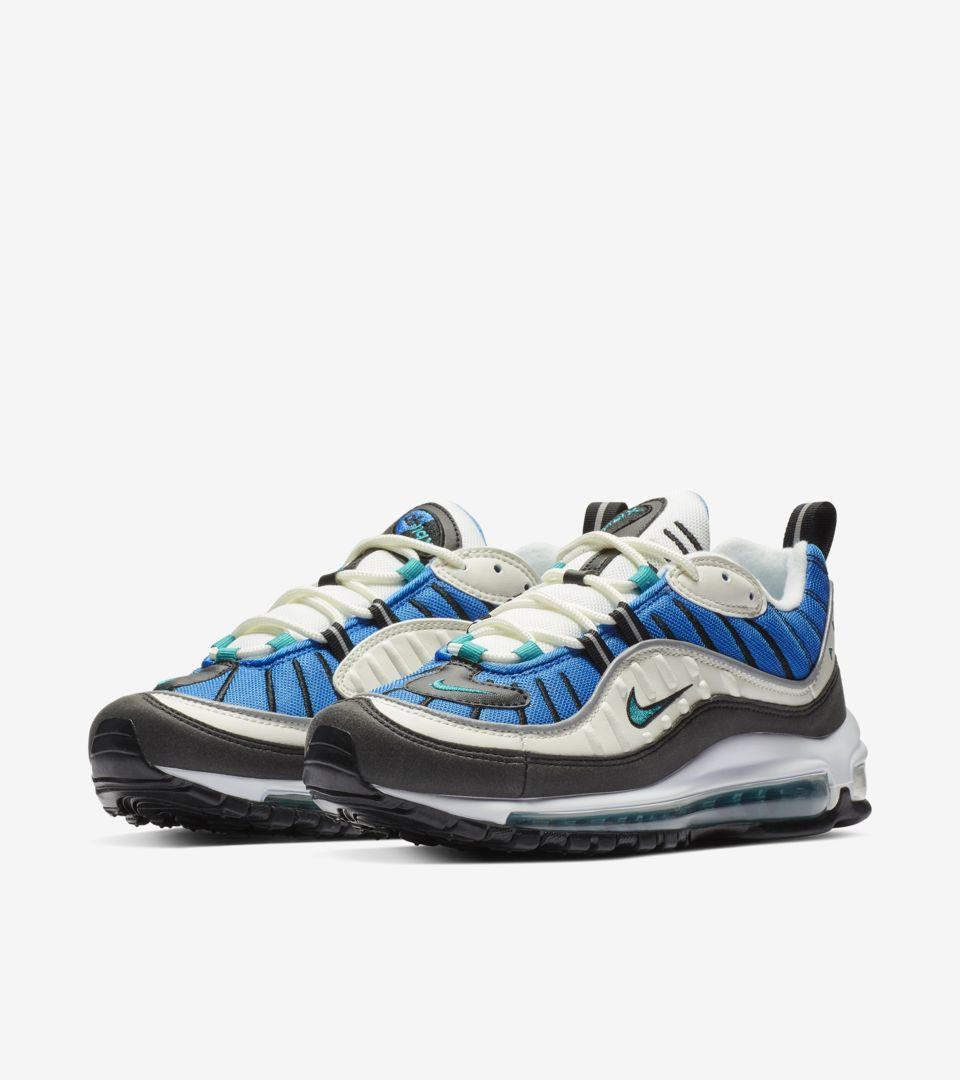 Nike Women's Air Max 98 'Radiant Emerald & Blue Nebula