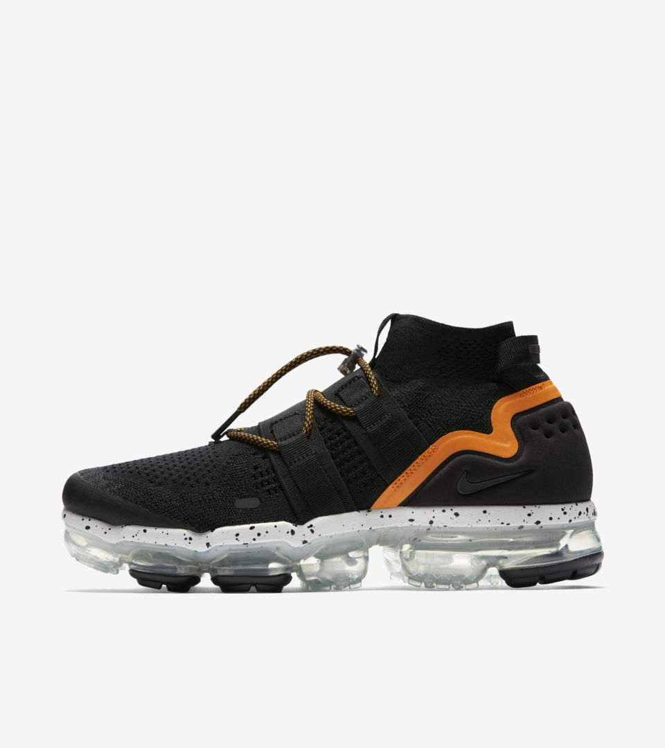 premium selection ca804 ff63b Nike Air Vapormax Utility 'Black & Orange Peel' Release Date ...