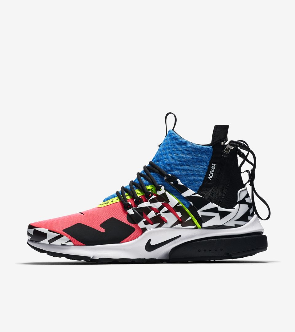 Air Presto Mid Utility X Acronym 'Racer Pink & Black & Photo Blue' Release  Date