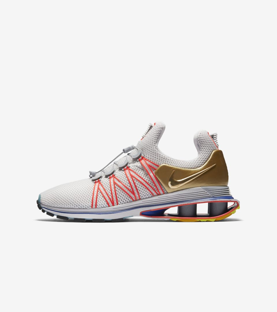 the latest 7de53 62b96 Nike Shox Gravity  Metallic Gold   Vast Grey  Release Date. Nike⁠+ SNKRS